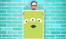 Toy Story Alien Art - Wall Art Print Poster   - Kids Children Bedroom Geekery